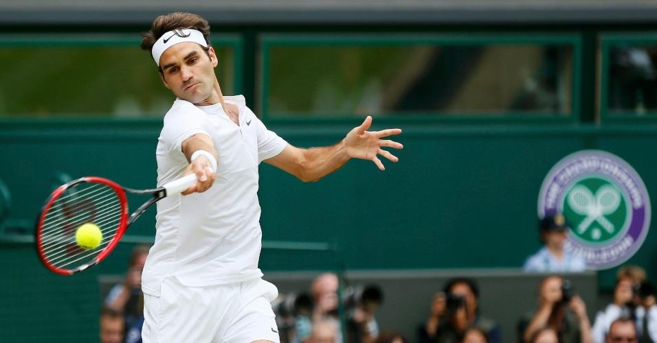 Roger Federer na final de Wimbledon