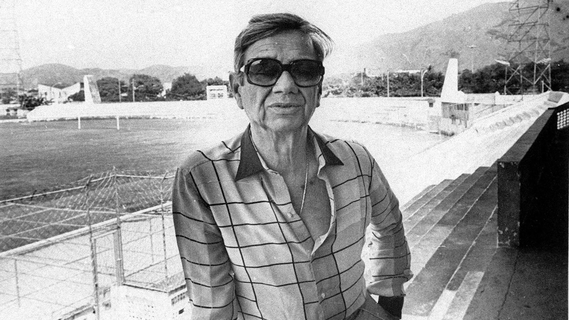 Castor de Andrade, em 1985, ano em que o Bangu foi vice-campeão brasileiro e carioca