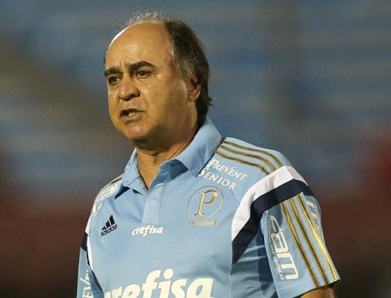 Marcelo Oliveira durante a vitória do Palmeiras por 2 a 0 sobre o Libertad