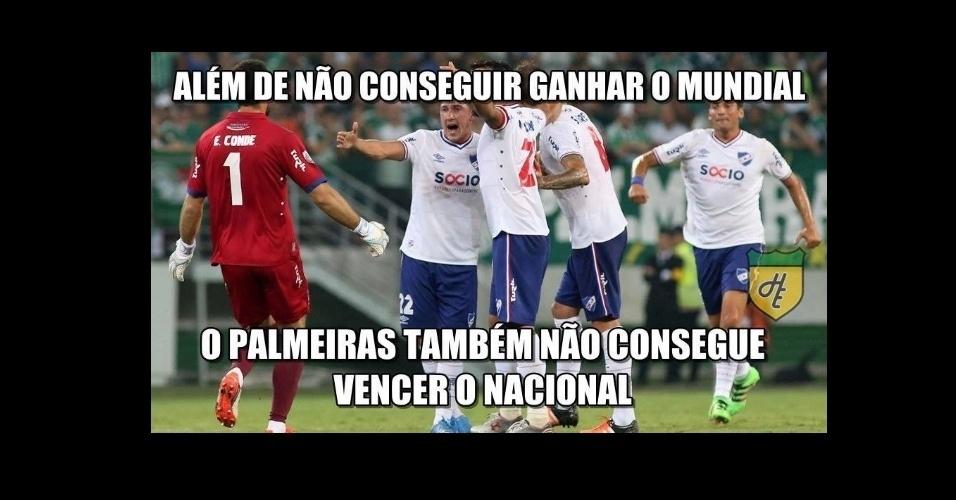 Palmeiras perde para o Nacional-URU e é zoado na web