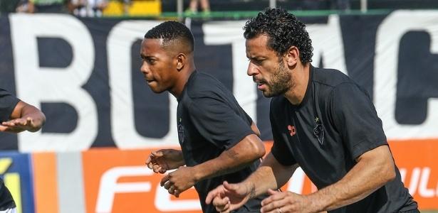 Robinho e Fred formam o ataque do Atlético desde junho do ano passado