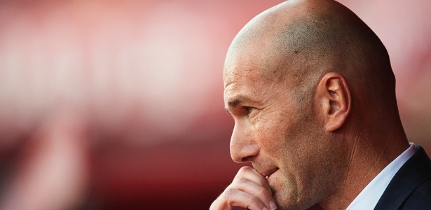 O técnico do Real Madrid, Zinedine Zidane