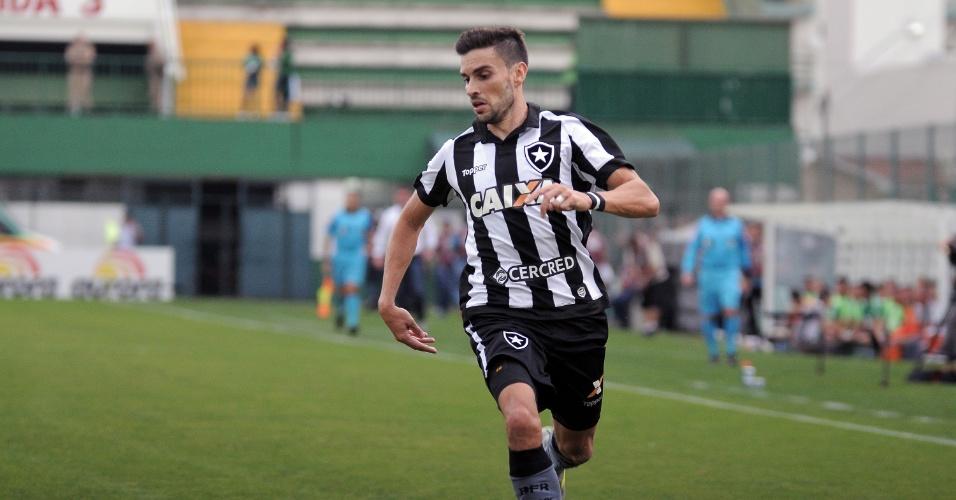 Rodrigo Pimpão marcou o segundo gol do Botafogo contra a Chapecoense