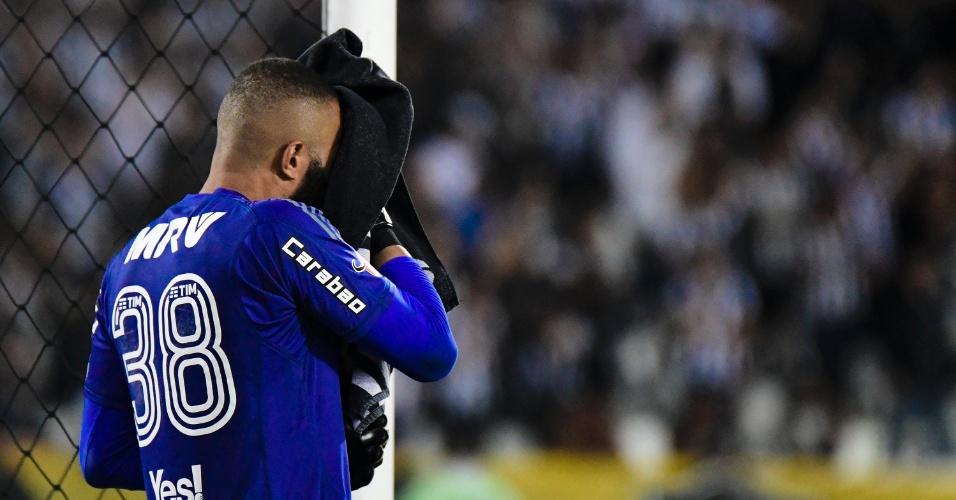 Alex Muralha do Flamengo em jogo contra o Botafogo