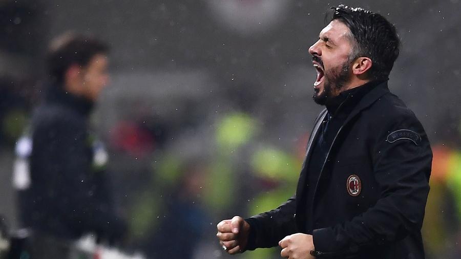 Gennaro Gattuso, técnido do Milan - AFP PHOTO / MARCO BERTORELLO