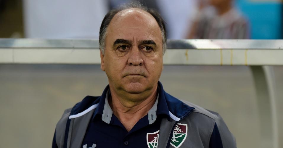 Marcelo Oliveira, técnico do Fluminense, na partida contra o Internacional