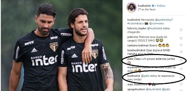 Pato e Hudson mantém contato mesmo após saída do atacante do São Paulo