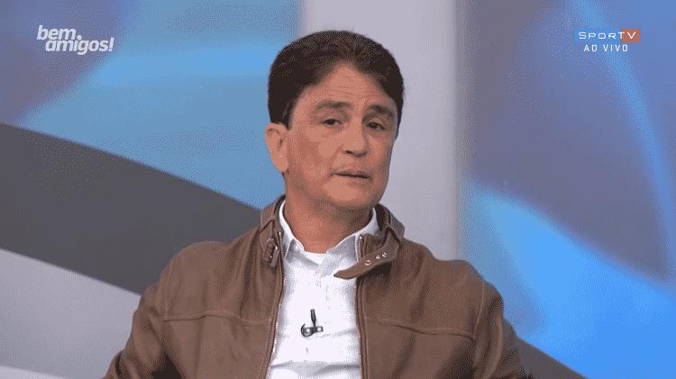 """Bebeto (foto) foi defendido pelo companheiro de tetra Ricardo Rocha: """"Não ganharíamos a Copa sem ele"""" - Reprodução/SporTV"""