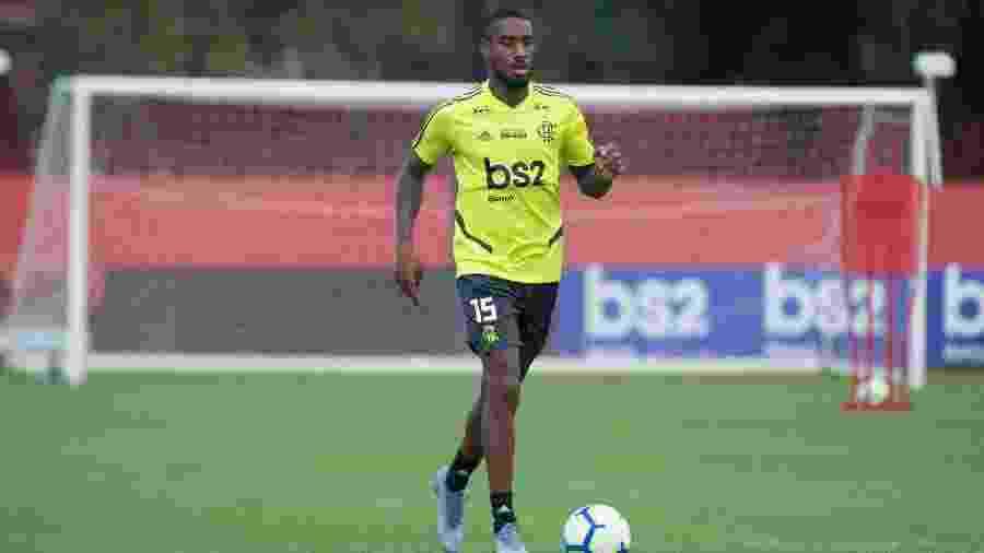 Gerson durante treino do Flamengo; jogador é um dos destaques do Fla em 2019 - Alexandre Vidal/Flamengo