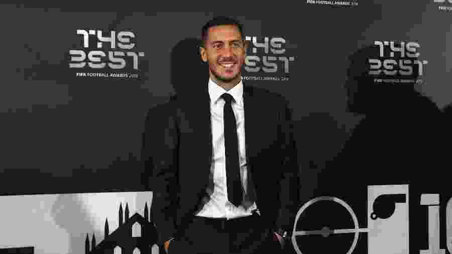 """Eden Hazard posa para fotos na chegada para o """"The Best"""", da Fifa - Claudio Villa/Getty Images"""