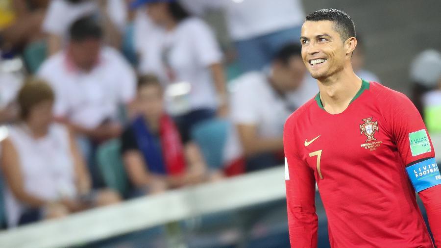 Cristiano Ronaldo durante partida de Portugal contra a Espanha na Copa da Rússia, em 2018 - Raddad Jebarah/NurPhoto via Getty Images