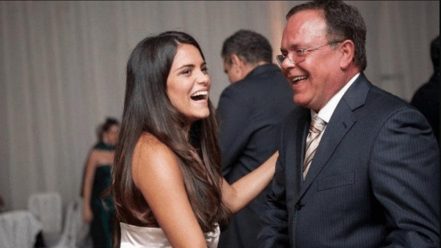 Júlia Vannucci postou homenagem ao pai Fernando Vannucci - Reprodução