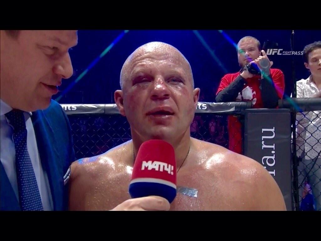 Fedor Emelianenko ficou com o rosto desfigurado depois da luta contra Fabio Maldonado
