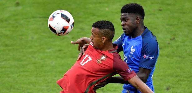 Umtiti esteve em campo contra Portugal