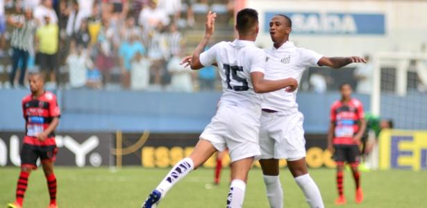 O zagueiro Renan Montanha marcou o gol da vitória do Santos