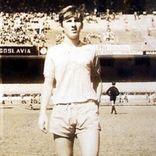 Zico, ainda garoto, nas categorias de base da seleção brasileira