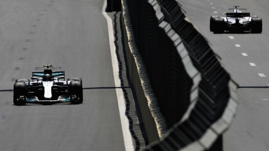 Valtteri Bottas, da Mercedes, nos treinos do GP do Azerbaijão - Mark Thompson/Getty Images