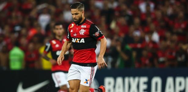 Diego não teve atuação de destaque na decisão entre Flamengo e Independiente-ARG - Bruna Prado/Getty Images