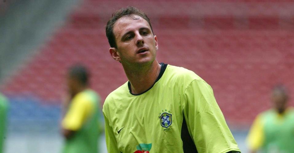 Rogério Ceni, goleiro reserva do Brasil na Copa do Mundo de 2002