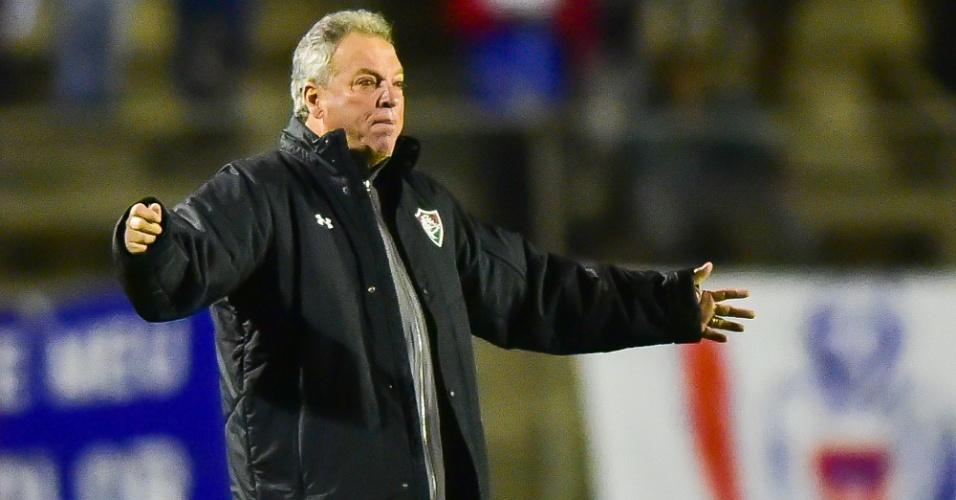 Abel Braga, técnico do Fluminense, na partida contra o Paraná