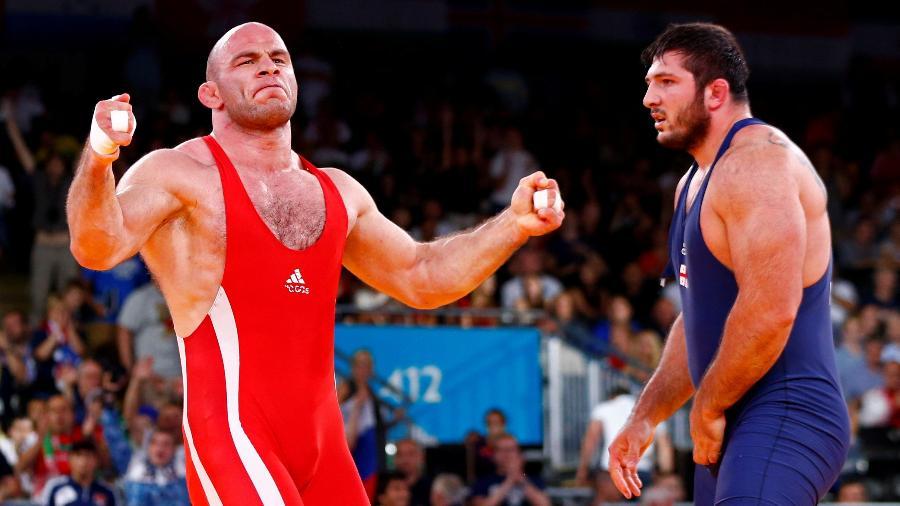 Davit Modzmanashvili (direita) foi medalha de prata em Londres-2012 - REUTERS/Grigory Dukor