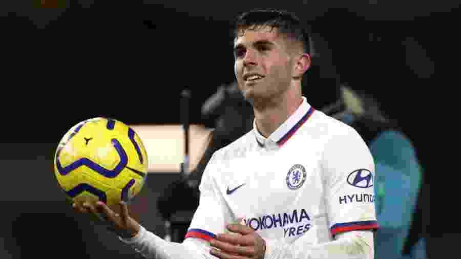 Christian Pulisic marca três gols para Chelsea em jogo contra Burnley - Action Images via Reuters/Lee Smith