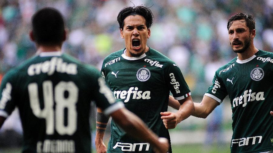 Gustavo Gómez celebra gol marcado pelo Palmeiras contra o Mirassol - Alan Morici/AGIF