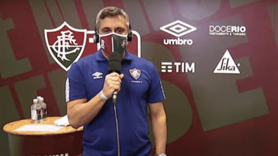 Anderson Cardoso, narrador da FluTV, gerou polêmica; Fluminense fará mudanças para final do Campeonato Carioca - Reprodução/YouTube