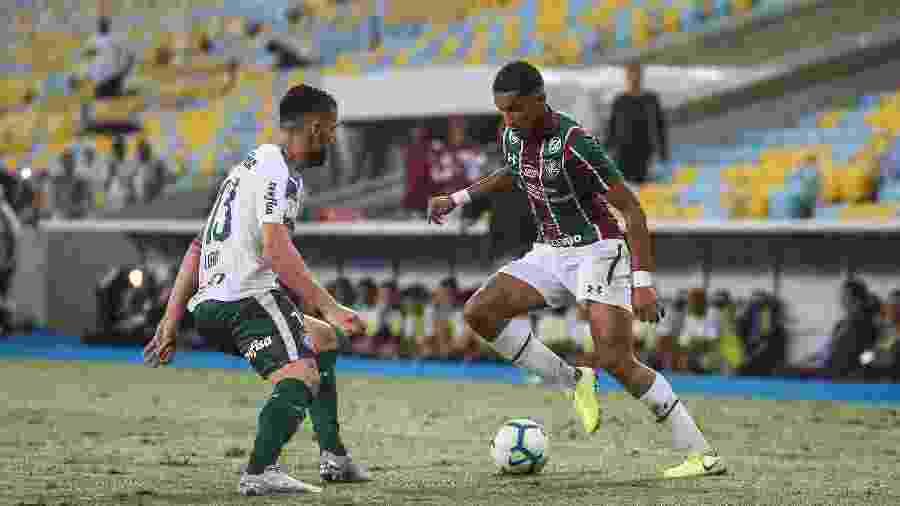 Fluminense e Palmeiras se enfrentam às 21h30 no Maracanã pelo Campeonato Brasileiro 2020 - Lucas Mercon/Fluminense FC