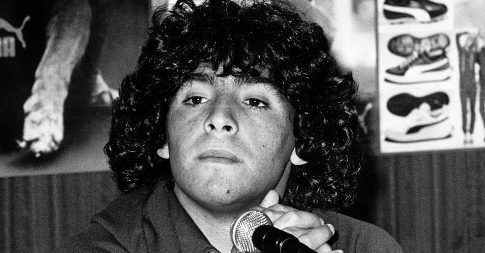 Diego Maradona em 28 de fevereiro de 1981