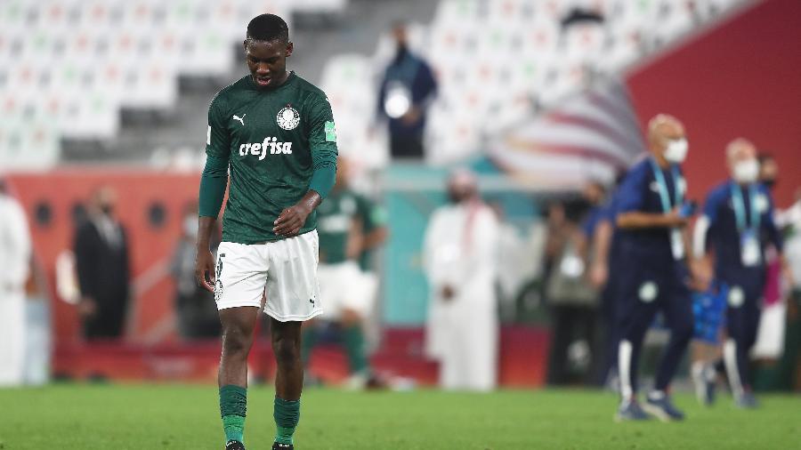 Patrick de Paula lamenta a derrota do Palmeiras para o Tigres na semifinal do Mundial de Clubes - Mohamed Farag - FIFA/FIFA via Getty Images
