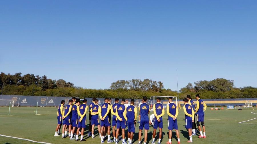 Boca treina em seu CT para enfrentar o Santos - Divulgação Boca Juniors