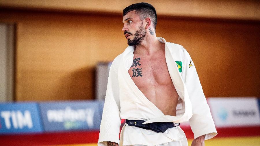 Daniel Cargnin, judoca brasileiro, derrota número 1 do mundo na categoria até 66 kg e vai à semifnal olímpica  - Gaspar Nóbrega/COB