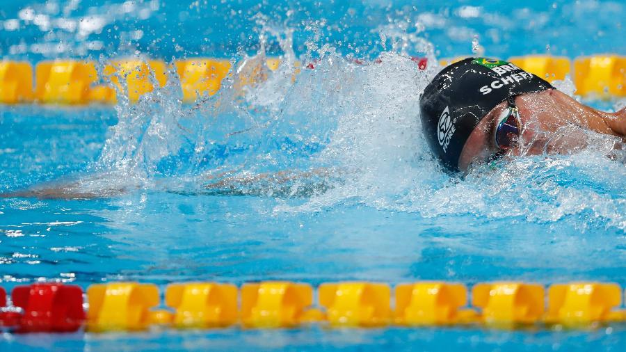 Fernando Scheffer nadou nos 200m depois de levar a medalha na prova individual - Satiro Sodré