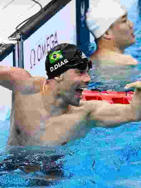 Daniel Dias comemora medalha de bronze nos 100m livre em Tóquio-2020 - Alex Davidson/Getty Images - Alex Davidson/Getty Images