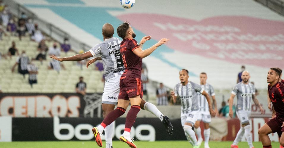 Ceará e Inter fizeram uma partida disputada na Arena Castelão