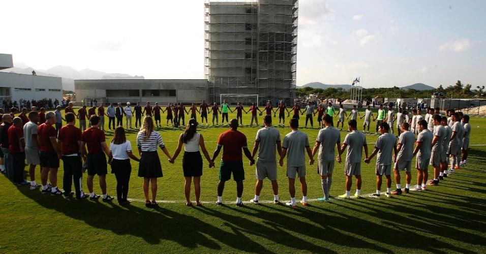 Centro de Treinamento do Fluminense foi inaugurado ainda com obras