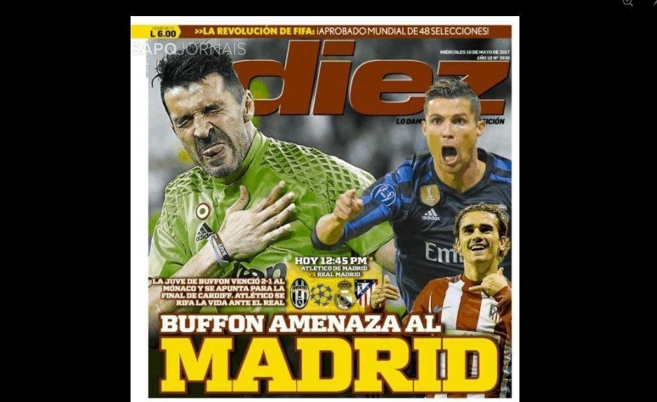 Diez repercute Atlético de Madri x Real