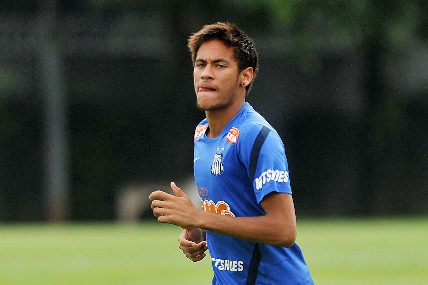 Neymar treina no Santos, em novembro de 2012