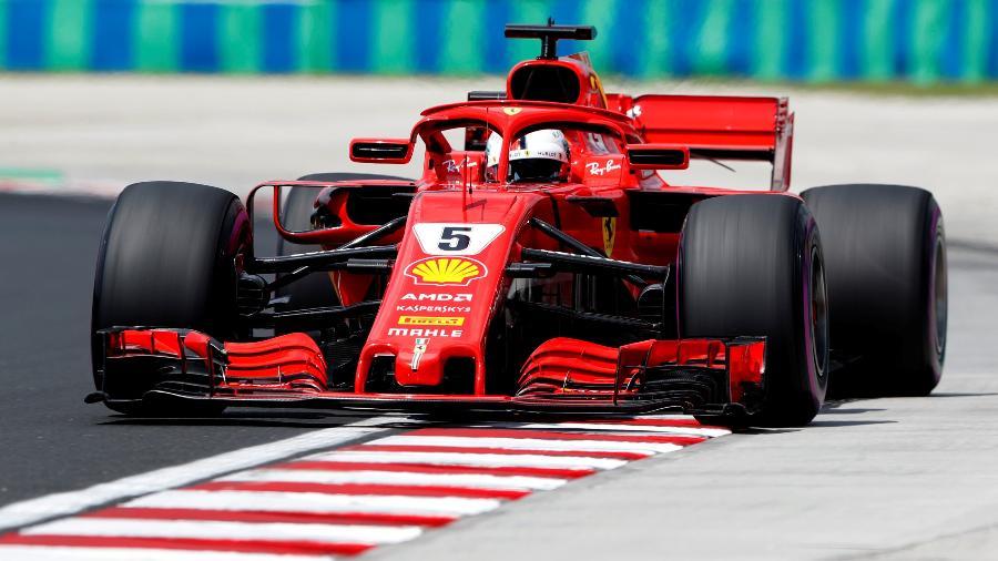 Sebastian Vettel durante treino livre para o GP da Hungria - Bernadett Szabo/Reuters