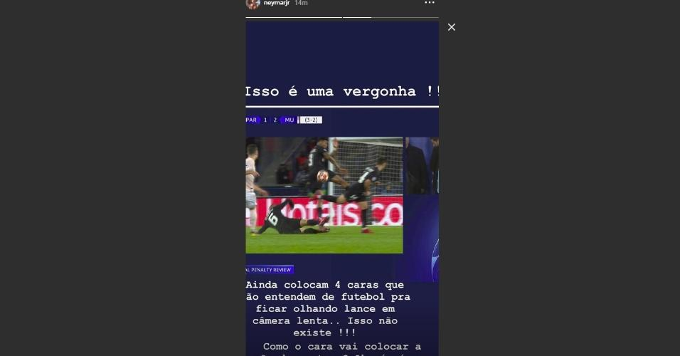 Neymar reclama árbitro