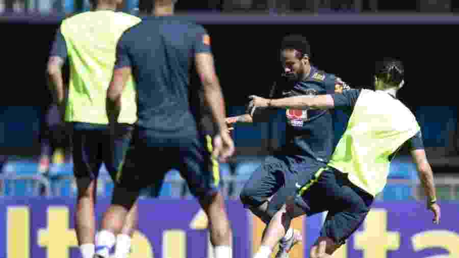 Neymar durante treino da seleção brasileira  - Lucas Figueiredo/CBF