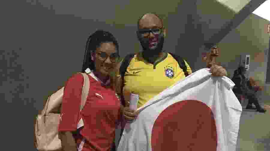 Casal de torcedores no Morumbi - José Eduardo Martins/UOL Esporte