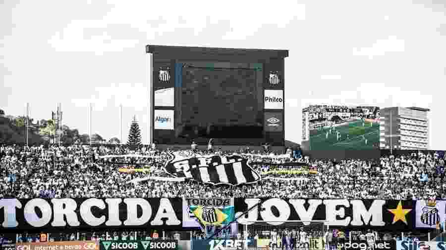 Vila Belmiro durante jogo do Santos; estádio tem capacidade para 16.295 torcedores - Ivan Storti/Santos FC