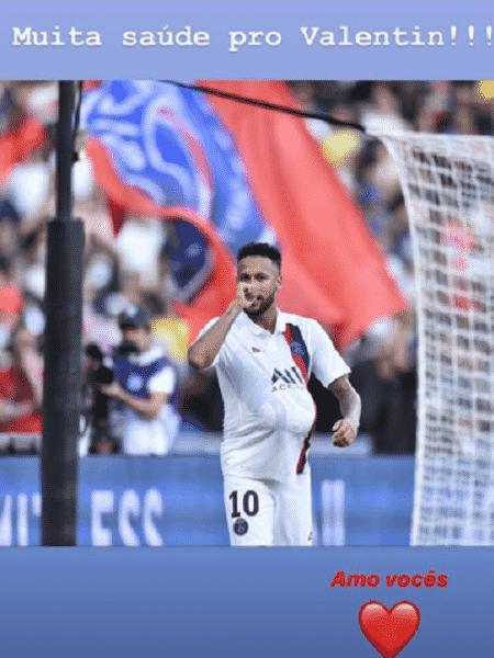 Neymar homenageou o nascimento de Valentin, irmão de Davi Lucca - Reprodução/Instagram