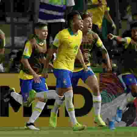 Kaio Jorge, do Brasil, comemora gol de pênalti na final do Mundial sub-17 - REUTERS/Ueslei Marcelino