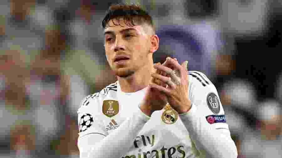 Federico Valverde, joia do Real Madrid, está nos planos do Manchester United - Gabriel Bouys/AFP