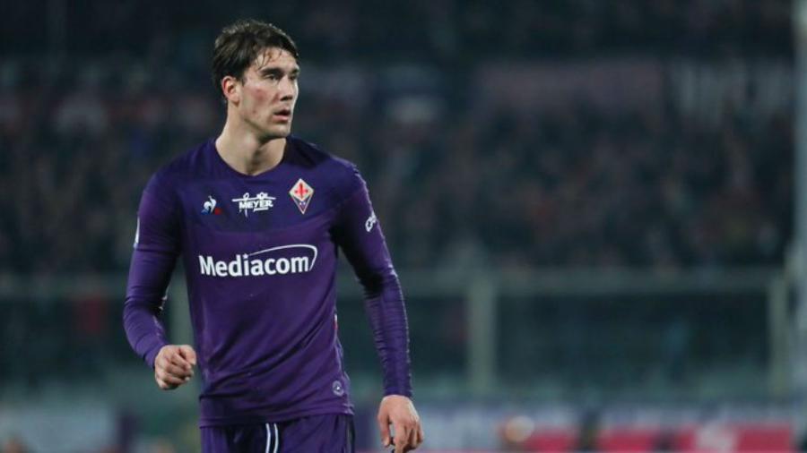 Dusan Vlahovic é o artilheiro da equipe na temporada com oito gols - AC Fiorentina/Divulgação