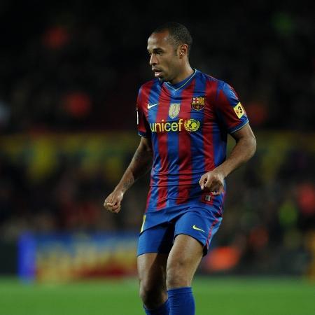 Thierry Henry, na época em que atuava pelo Barcelona - Jasper Juinen/Getty Images