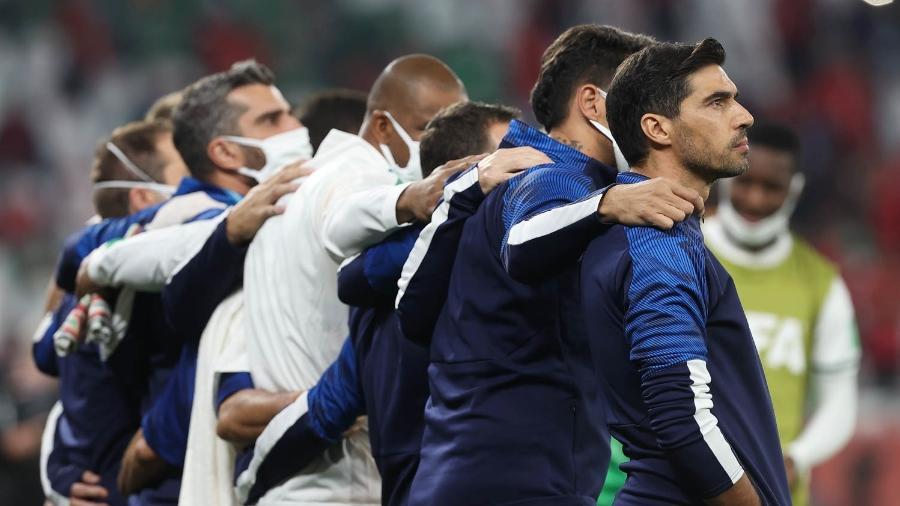 O técnico Abel Ferreira, do Palmeiras, em jogo contra a equipe do Al-Ahly - Cesar Greco